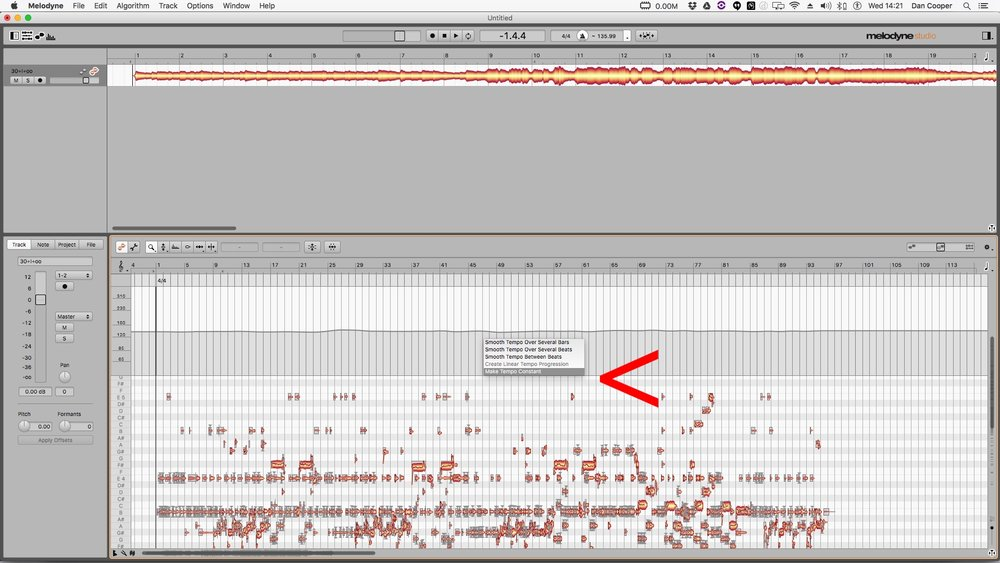 5. Right click over tempo map > Make tempo constant