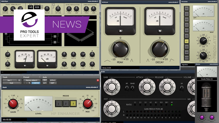 Sknote Announce A Raft Of AAX DSP Plugins