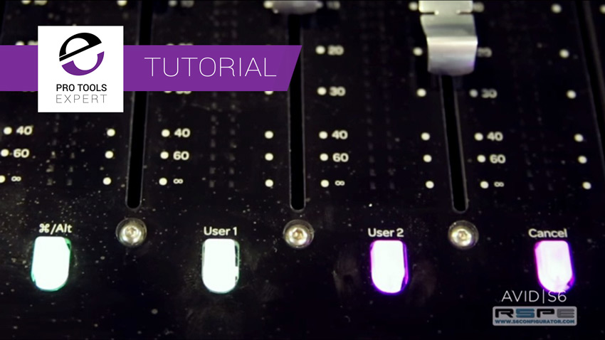 Pro Tools S6 Tutorial - Navigating Soft Keys Using the