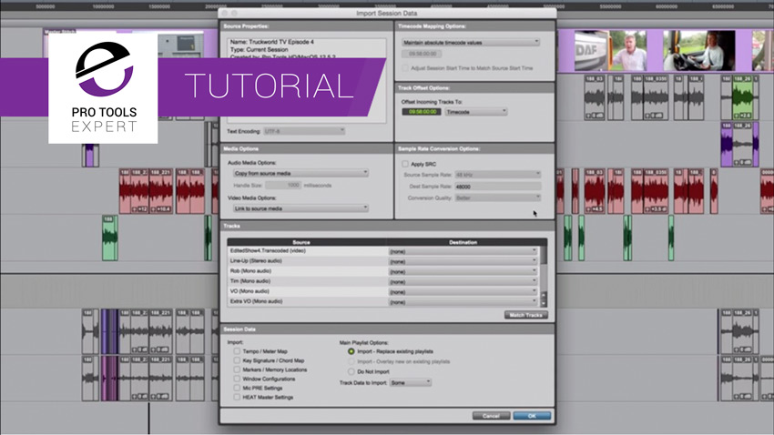 Free Tutorial - How To Use The Pro Tools Import Session Data