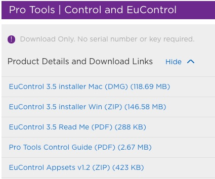 EuControl 3.5 In Avid Master Accounts