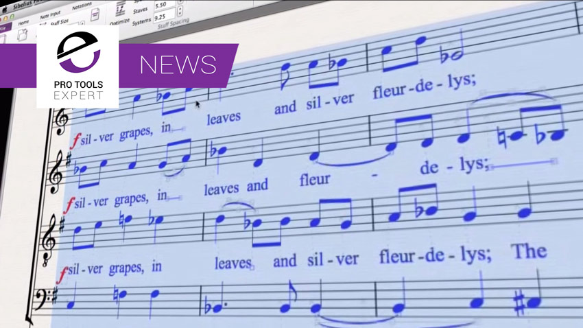 Avid Release New Version Of Sibelius First