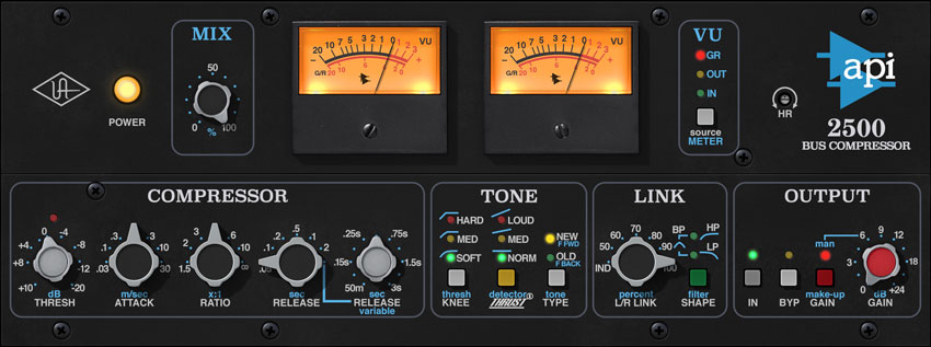API 2500 Bus Compressor Plug-In for UAD-2 and Apollo Hardware