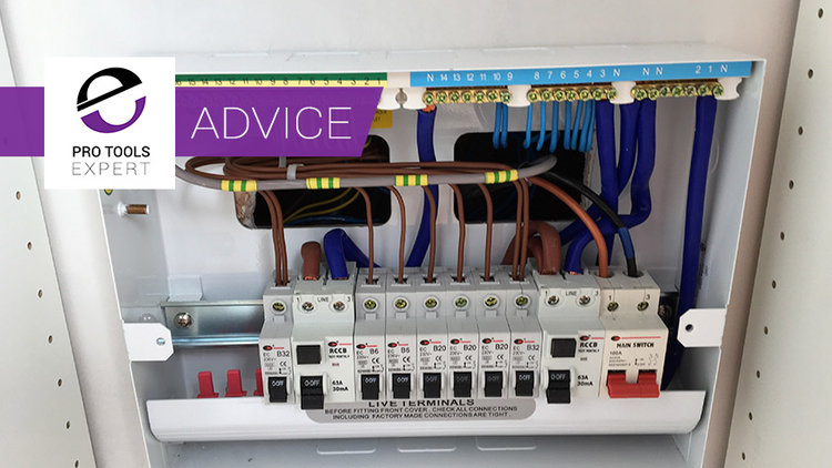 Pro Tools   Home Studio Build - Part 6 - Electrics And Cabling