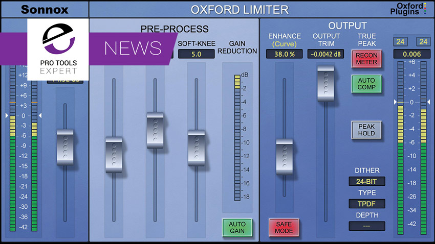 Sonnox Release Windows Version Of Oxford Limiter 2.0 With True Peak