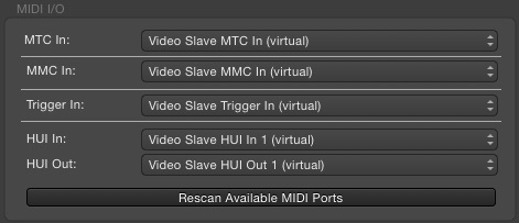 Video Slave 3 MIDI ports