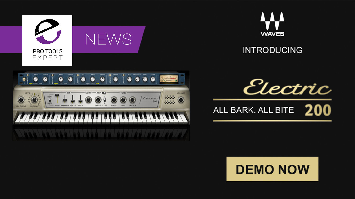 Waves Release New Keyboard Instrument - Electric 200 Piano