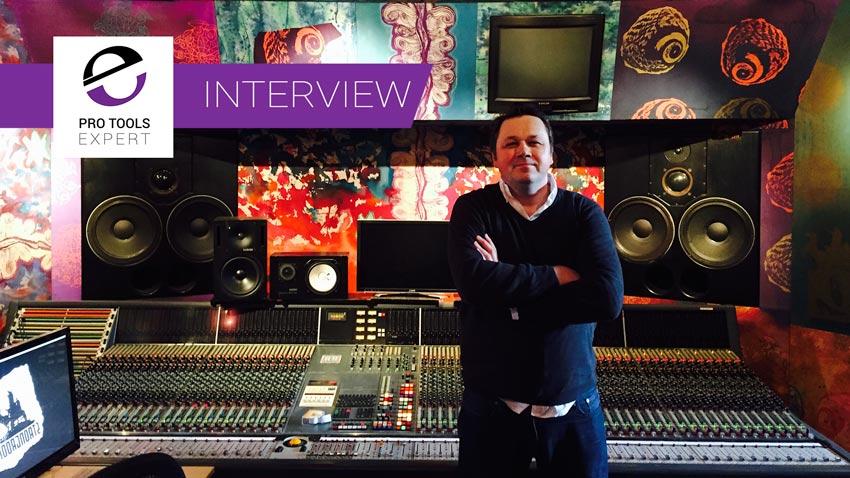 Russ Hughes standing in Strongroom studios