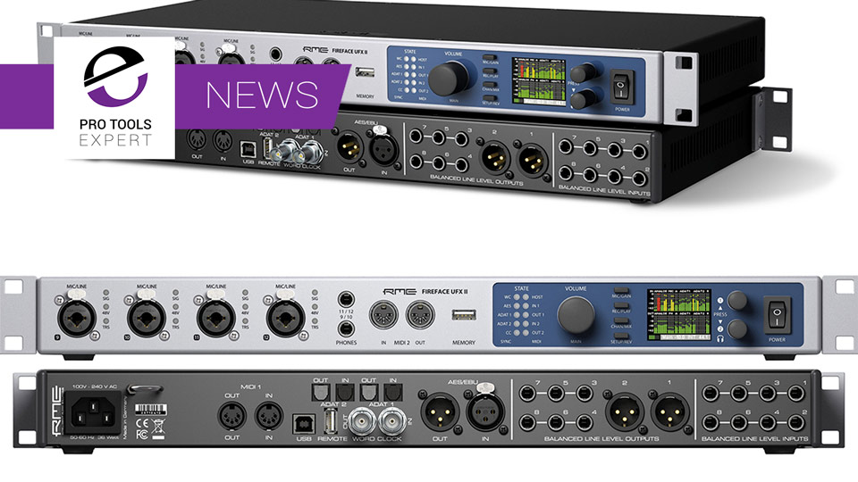 RME Announce Fireface UFX II Audio Interface Launch At NAMM 2017