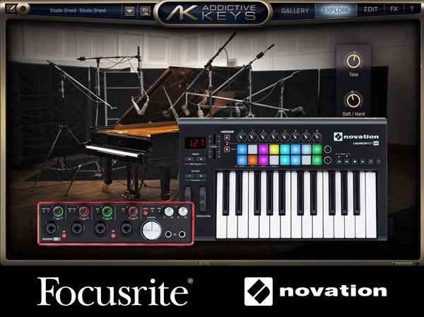 Focusrite Novation Addictive Keys Included Free
