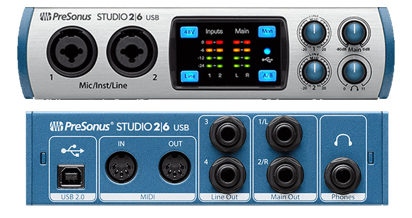 Presonus Studio 26 Interface