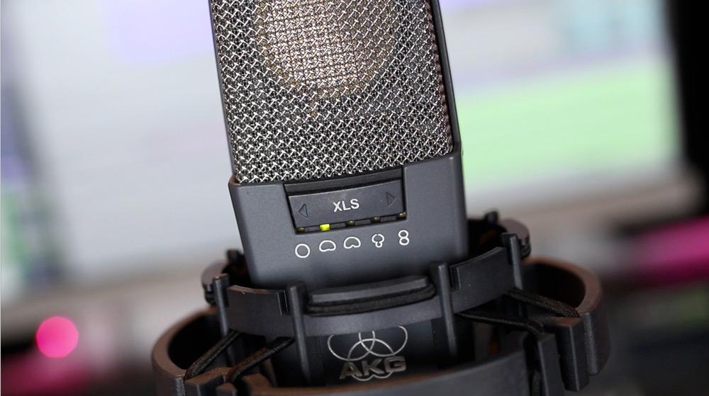 AKG C414 recording studio microphone