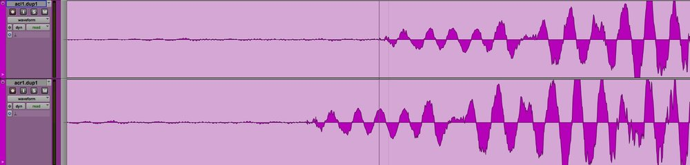Stereo acoustic guitar recording with phase problems - Needs time aligning n Pro Tools
