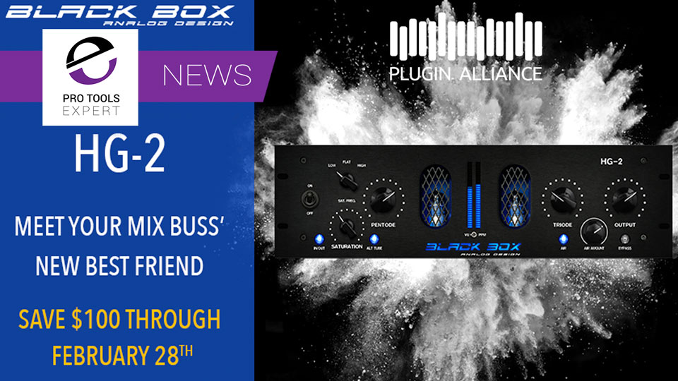 Plugin Alliance Release Black Box Analog Design HG-2 Emulation Plugin