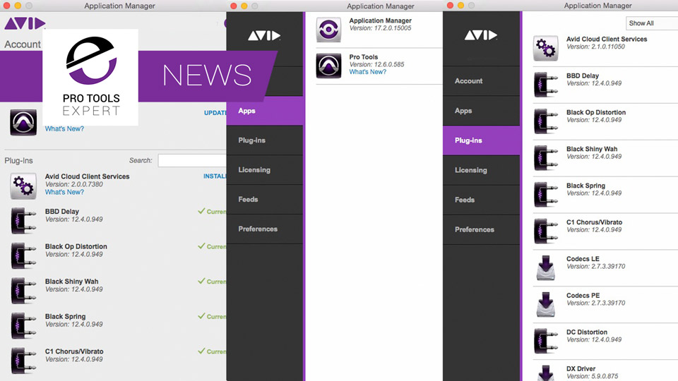Avid Update Application Manager With A New Look