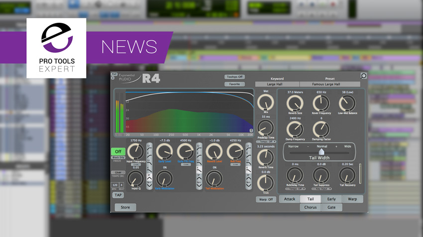 Exponential Audio Announce R4 - New Reverb Plugin