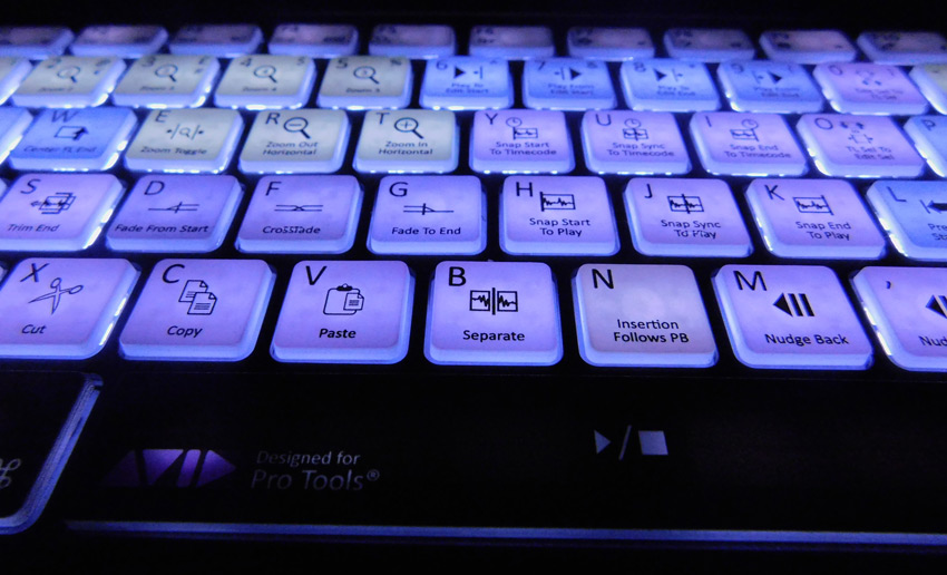 Editors Keys Pro Tools Backlit Keyboard