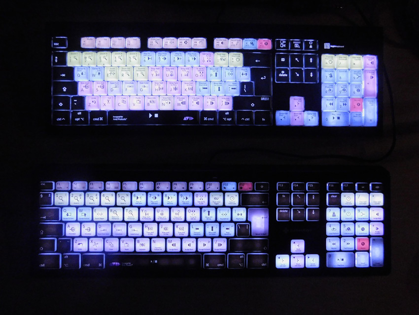 LogicKeyboard And Editors Keys Backlit Keybaords