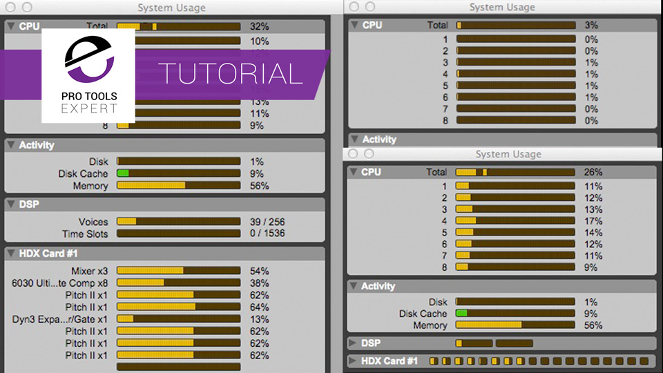 Understanding Pro Tools - The System Usage Meters