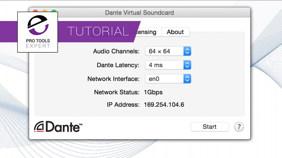 Dante virtual sound card