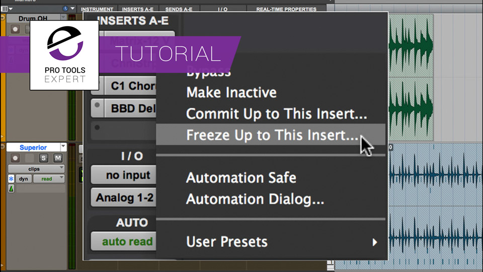 Pro Tools 12 - Everything You Want To Know About Track Freeze In Pro Tools 12.4