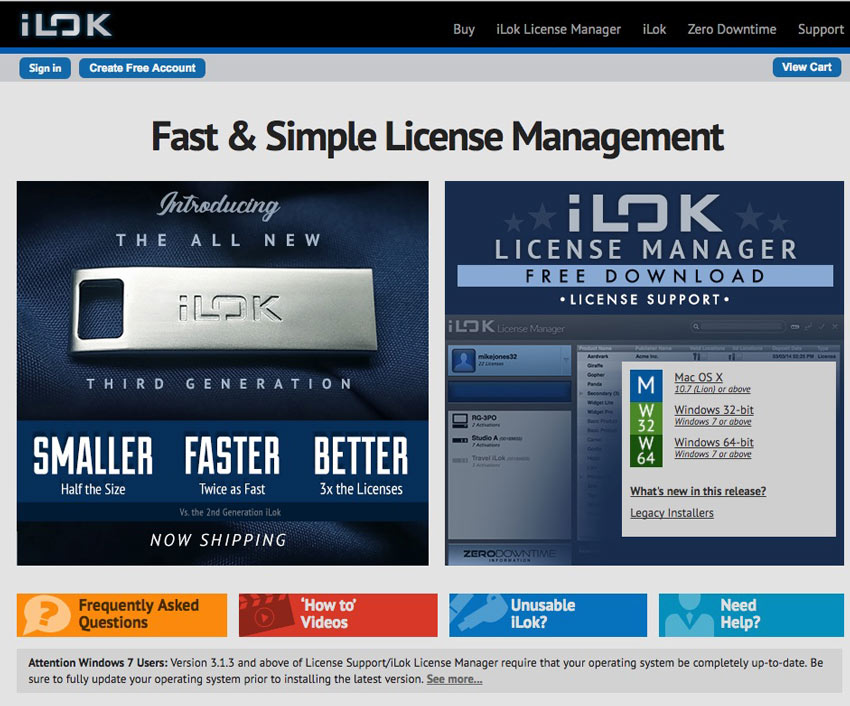 iLok website