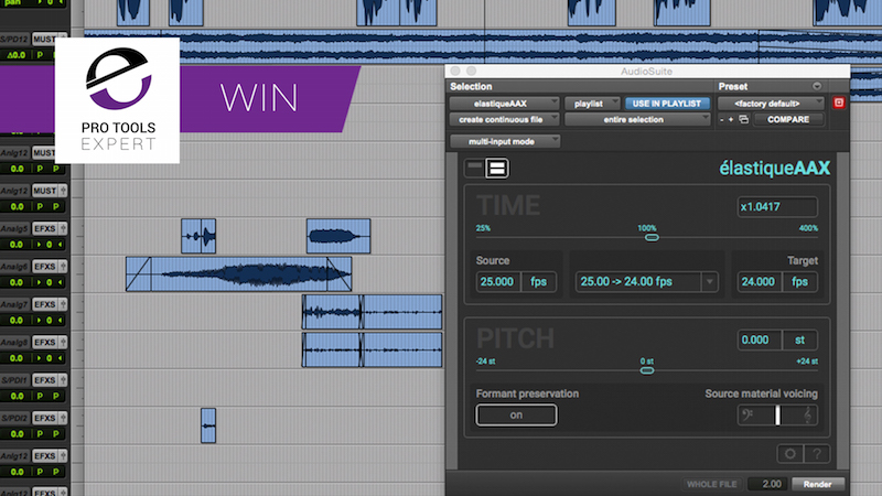 Win The Amazing zplane élastiqueAAX Time & Pitch Manipulation Plug-in