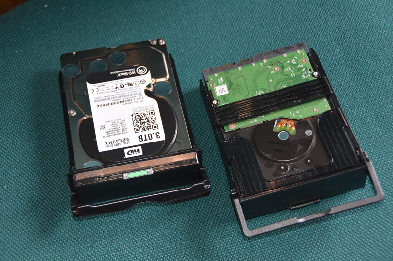 "3.5"" Drives in the HP Drive Caddies"
