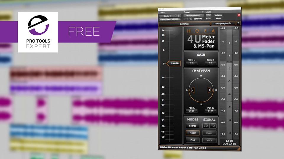 Friday Free Plug-in - HOFA 4U Meter, Fader & MS-Pan Plug-in