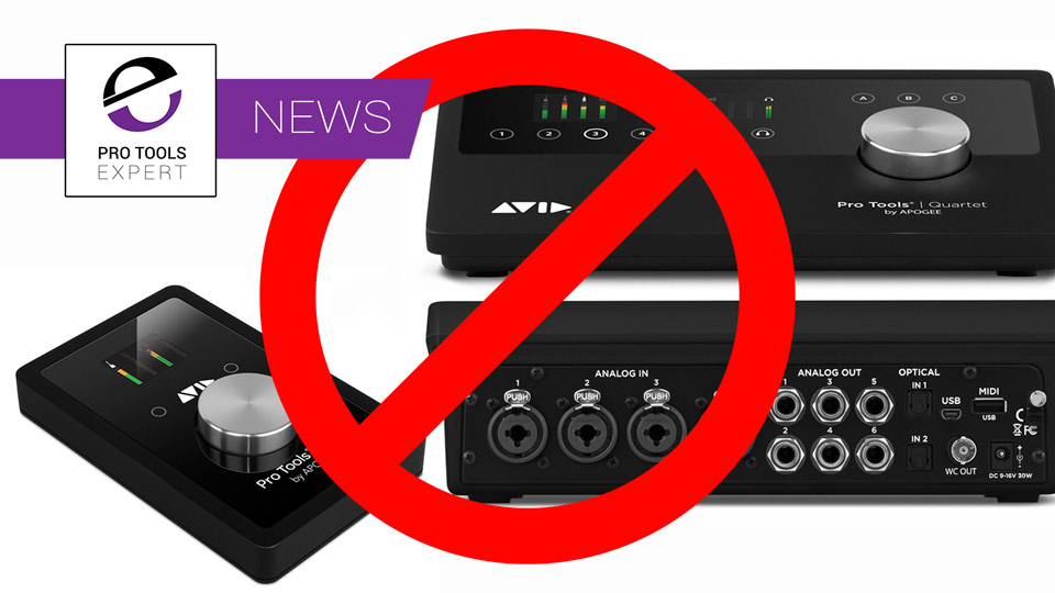 Avid Discontinue Pro Tools Duet And Quartet Interfaces After Only 18 Months On Sale