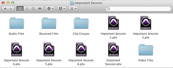 Name everything in Pro Tools