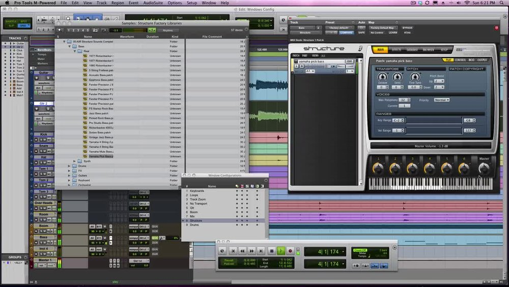 Window Configurations in Pro Tools