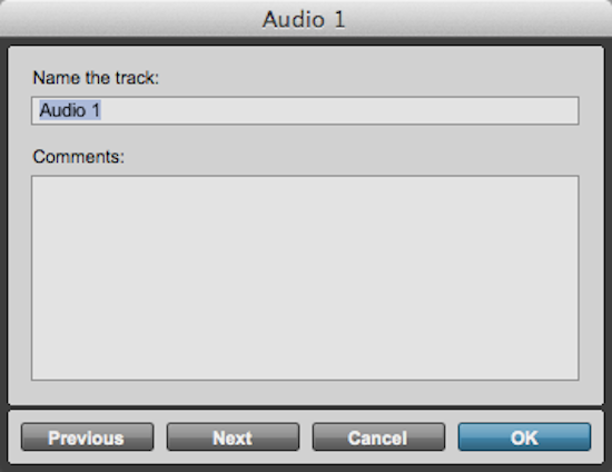 Track Naming in Pro Tools