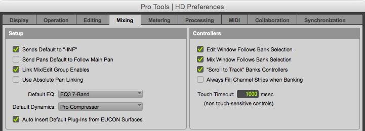 Set Default EQ And Dynamics Plug-ins in Pro Tools