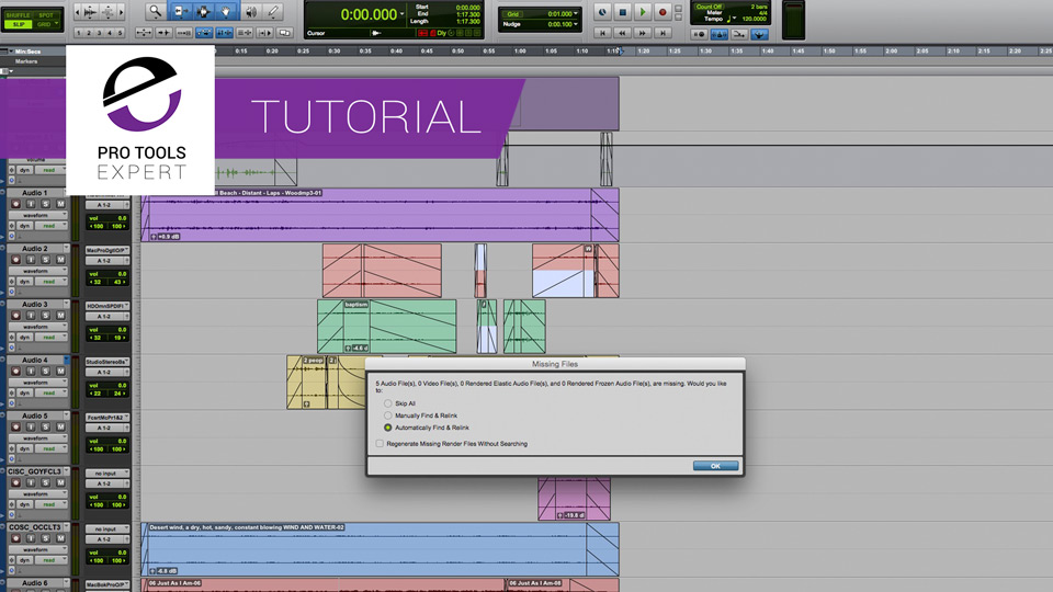 Tutorial - Handling Missing Files And Using Force Relinking In Pro Tools