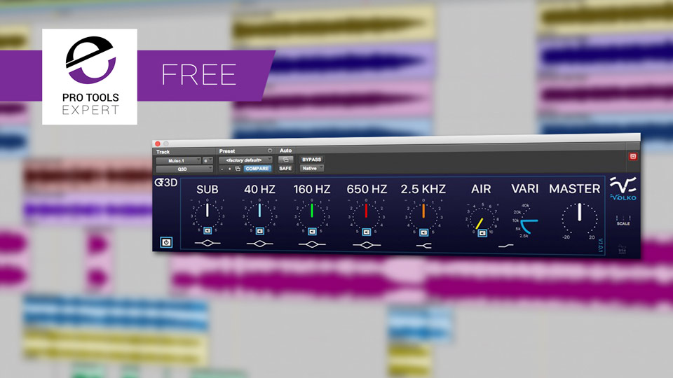 Friday Free Plug-in - Volko Audio Q3D EQ Plug-in