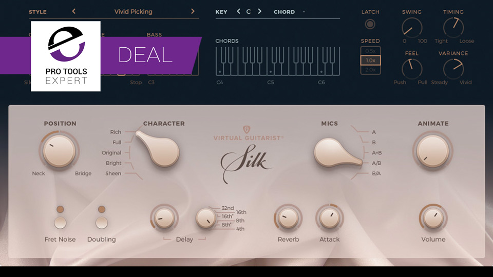 Avid Offering You Virtual Guitarist Silk With 42% Saving Until June 4th 2017