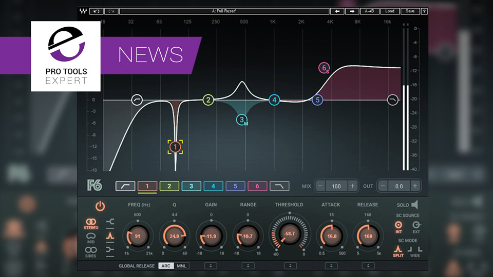 Waves Release F6 Floating-Band Dynamic EQ Plug-in
