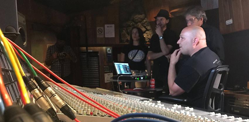 Dirk Ulrich from Brainworx demoing TMT plug ins at Fantasy Recording Studios