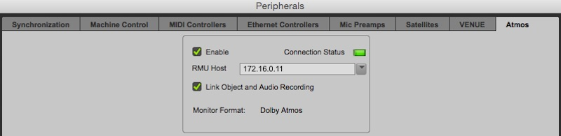 Pro Tools 12.8 HD Peripherals Menu