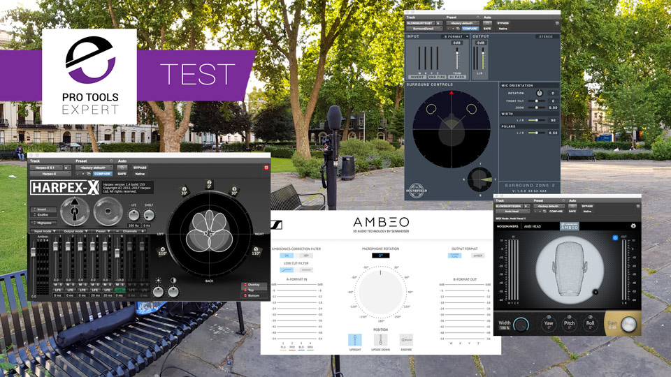 Test - Sennheiser AMBEO A To B Format Convertor, Soundfield SurroundZone 2, Harpex-X and Noise Maker Ambi Head Plug-ins