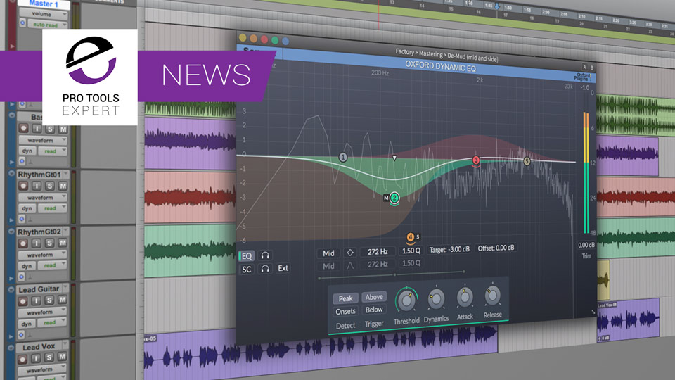 Sonnox Release Oxford Dynamic EQ Plug-in