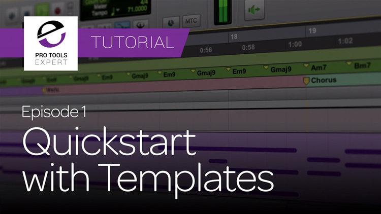 Pro Tools | Getting Started With Pro Tools - Using Template Sessions ...