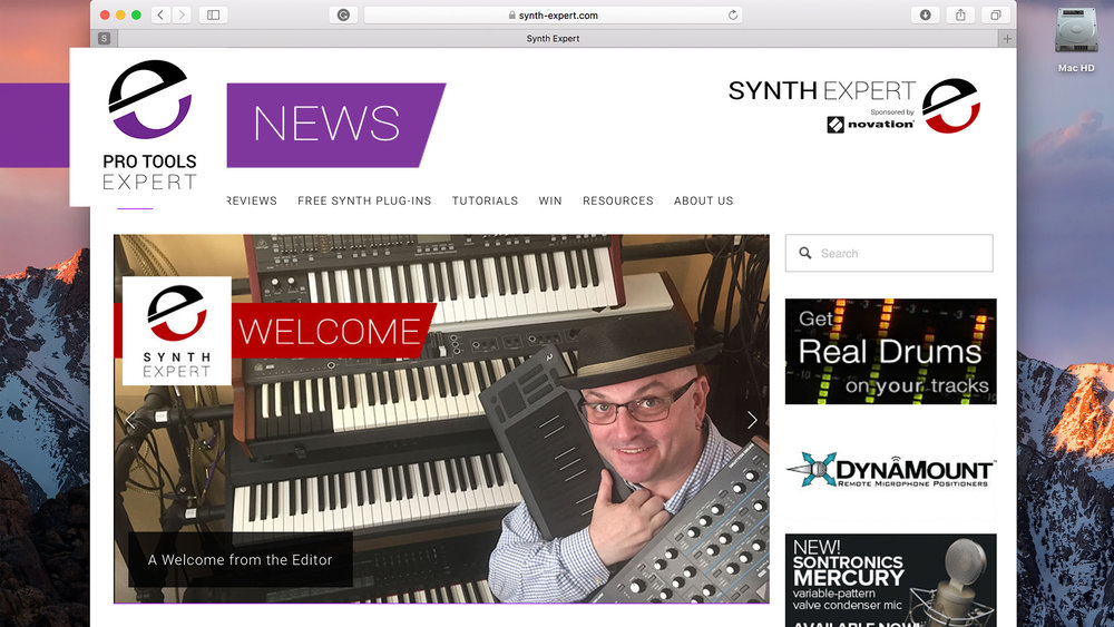 Synth Expert Web Site