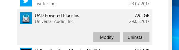 Uninstall UAD Powered Plug-ins