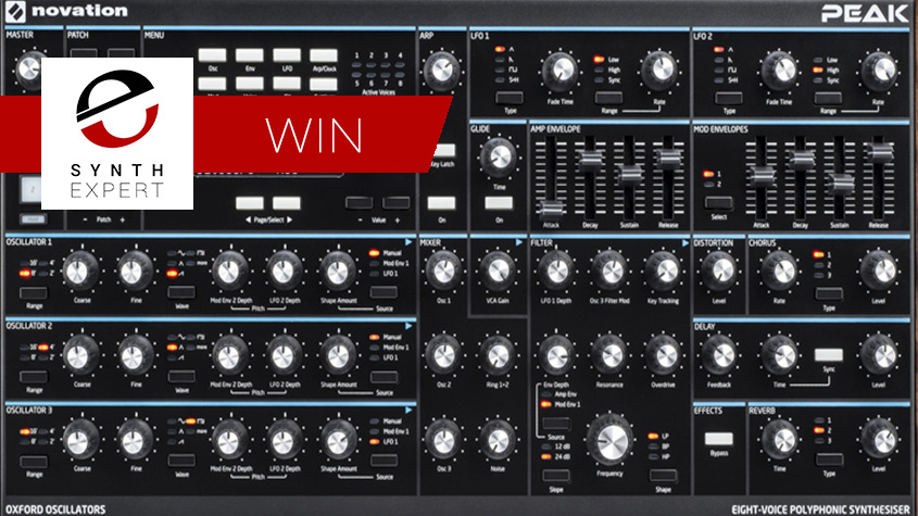 Synth Expert Offering The Opportunity To Win A Novation PEAK Synthesizer