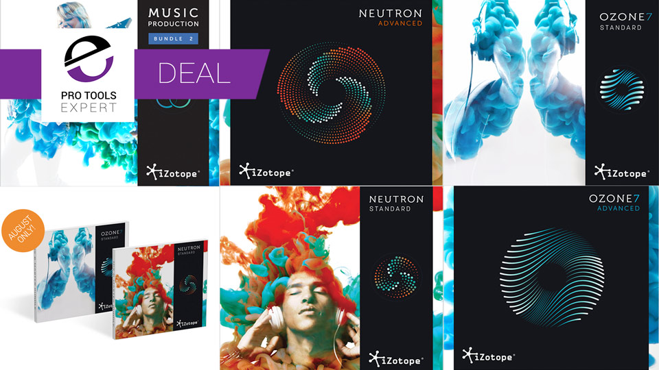iZotope Offering Discounts Of Up To 50% Until August 31st 2017