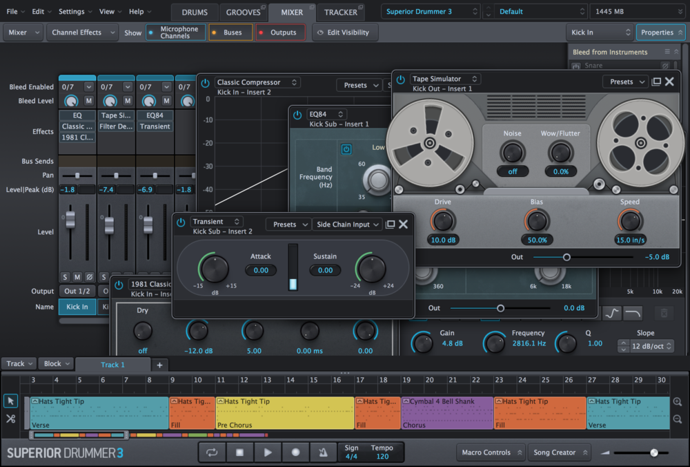 Superior Drummer 3 Mixer
