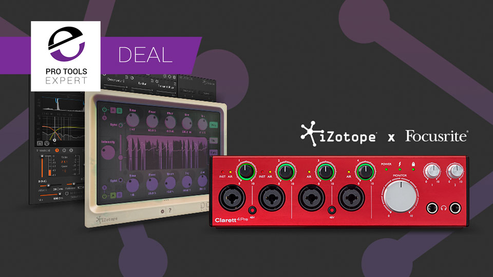 Focusrite Offers Clarett Interface Owners 30% Discount On iZotope Neutron And Free Copy Of DDLY Until August 21st 2017