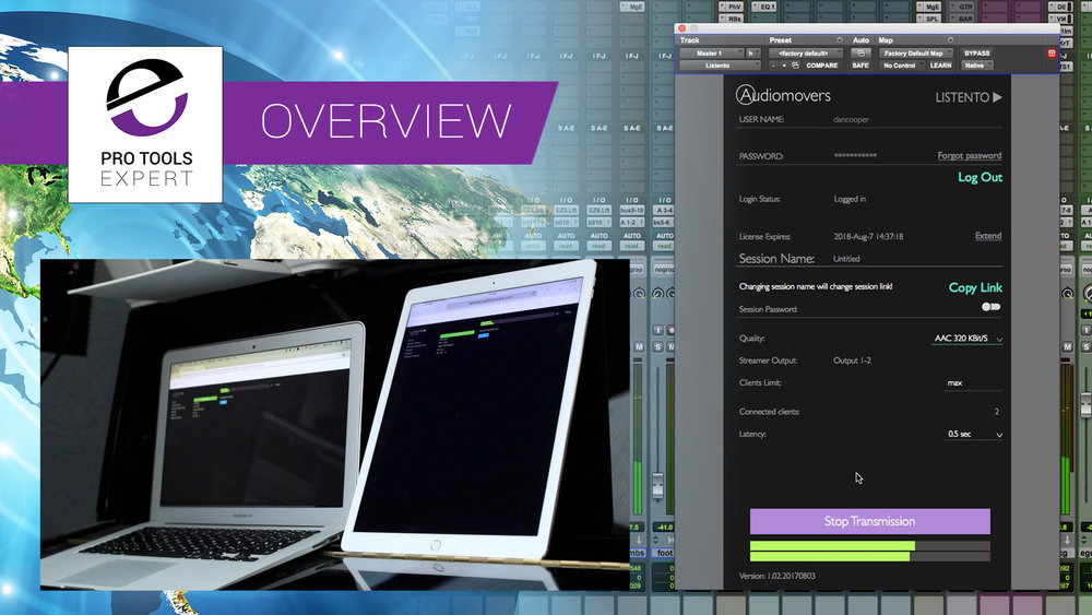 review streaming mixes from pro tools to web browsers using listento from audiomovers reviews